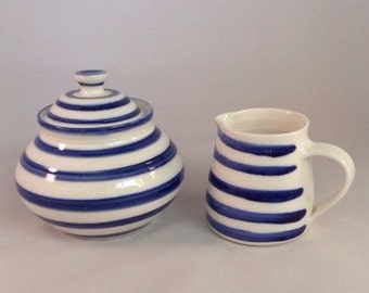 milk and lidded sugar bowl set
