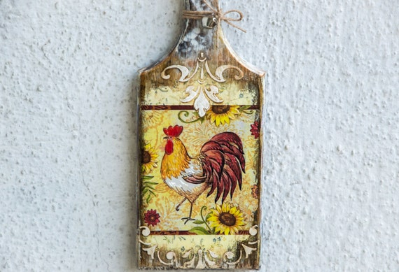 Rustic Rooster Wall Decor : Rooster kitchen decor farmhouse rustic wall