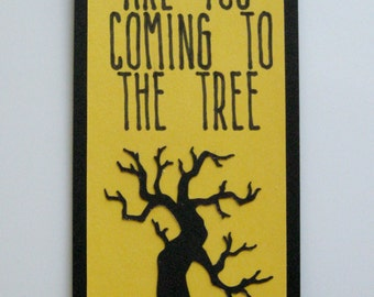 Hunger Games Bookmark ~ Mockingjay Bookmark ~ Suzanne Collins Quote Bookmark ~ Are You Coming to the Tree Book Mark ~ Katniss Everdeen Song