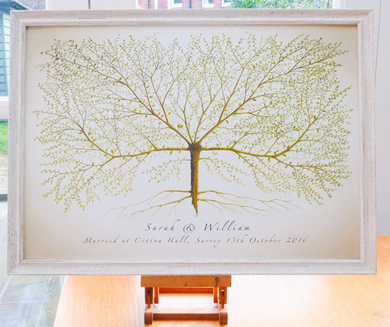 Wedding Guest Signing Tree: WEDDING TREE Wedding Guest Sign In Wedding By HallelujahTree
