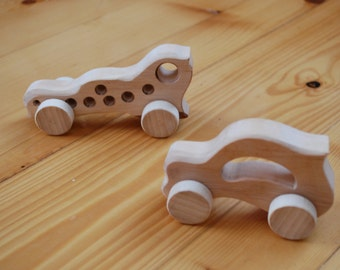 Wooden Car, Toy Car Set, 2 Wooden Toy Cars, Wooden toy cars, Classic Wooden Cars, Wooden car, Waldorf toy, Eco friendly toy