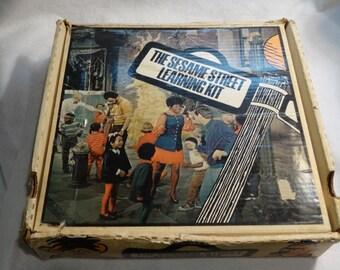 1970 Sesame Street Learning Kit with Bonus Record