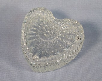 Glass Heart Trinket Box