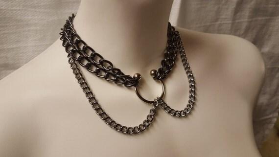 Bdsm chain collars