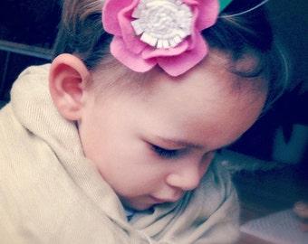 Flower Felt hair clip/ flower hair pin
