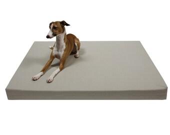 Orthopedic Dog Bed, Organic Canvas Dog Bed, Stone