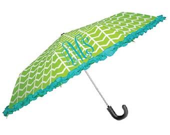 Monogrammaded Umbrella Personalized Umbrella Teal Umbrella Lime Umbrella Blue Umbrella Green Umbrella Custom Umbrella Umbrella With Handle