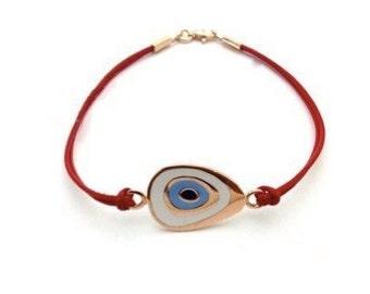 Amorphous evil eye bracelet (silver)