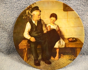1979 Norman Rockwell Collector Plate The Lighthouse Keepers Daughter