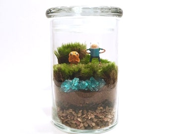 Adventure Time Inspired Terrarium // Mini Finn & Jake