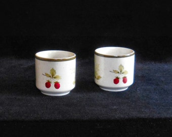 Pair of Royal Doulton Lambethware Egg Cups in the Cornwall pattern