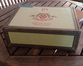 Montecruz Dunhill Cardboard/Wood Bottom Vintage Cigar Box