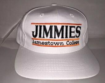 Vintage Jamestown University Jimmies Snapback hat cap rare 90s college ncaa deadstock the game bar
