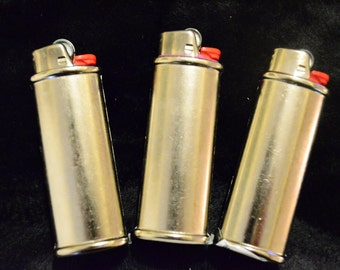 3 pack (Three) Blank Bic Lighter Case Cover Holder Metal crafts wholesale polymer clay