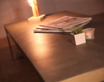 Table low collection PURE dark grey concrete