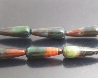 10x30mm Agate Teardrop Beads,Striped Agate Beads,15 inch per Strand