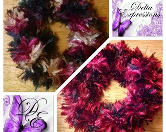 Hair Scrunchies/Crocheted Scrunchies/Boa Fur Scrunchies
