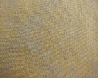 Tan and off mustard | 54 Inch | Upholstery / Drapery Fabric By The Yard