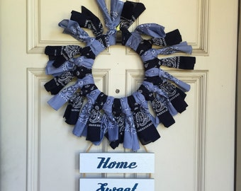 Back the Blue wreath - 12 in