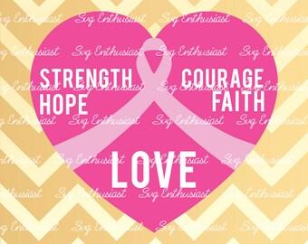Breast Cancer Awareness SVG, Awareness ribbon SVG, Cancer ribbon svg, Breast cancer SVG, Cricut, Dxf, Png, Vinyl, Eps, Cut Files, Clip Art,