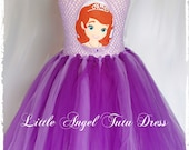 Sofia The First Inspired Tutu Dress handmade fancy dress costume Birthday Outfit  Purple and Lilac Dress Princess Sofia Dress Christmas