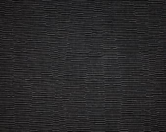 SCALAMANDRE OTTOMAN Textured JACQUARD Fabric 10 Yards Black