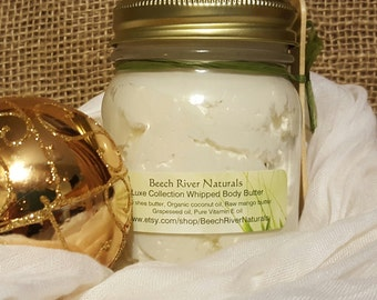 Peppermint Whipped Body Butter, coconut oil lotion, organic shea butter lotion, homemade lotion, whipped shea butter, hand lotion, gift idea