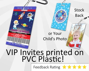 Outer Space Invitation PLASTIC Outer Space, Outer Space Invitation, Birthday Invitation, Birthday Invite, Outer Space Birthday SKU-INV185