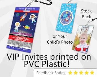 Astronaut Invitation PLASTIC Astronaut, Astronaut Invitation, Birthday Invitation, Birthday Invite, Astronaut Birthday Invitation SKU-INV185