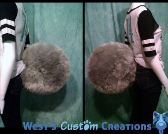 XL Solid Color Curled Akita/Husky/Malamute Tail! *Made to Order*