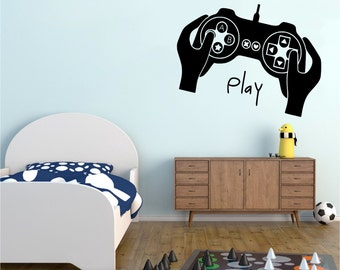 Video Game Wall Decals Play Sticker Xbox Playstation art gift G9