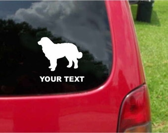 Set (2 Pieces) Bernese Mountain Dog   Sticker Decals with custom text 20 Colors To Choose From.  U.S.A Free Shipping