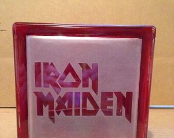 Iron maiden glass block