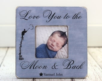 Pregnancy Ultrasound Baby Frame for Wife My Mommy Hung the Moon Personalized Gift
