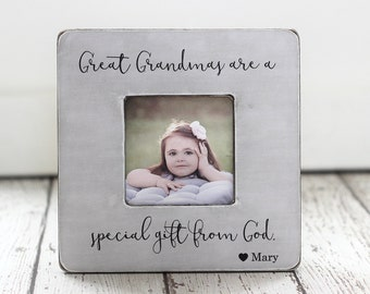 great grandmas are a special gift from god personalized quote great grandma picture frame gift