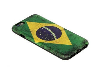 United Streets of Art Unique iPhone Cases. Brazil Flag iPhone Case