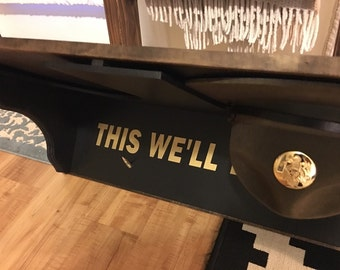 Drill Sergeant Hat Rack and Shelf