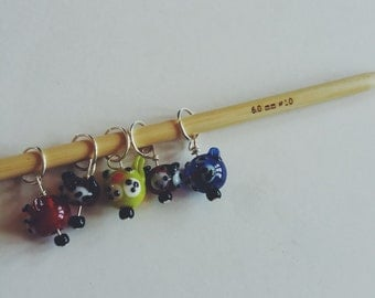 Cats and Dogs Stitch Markers / Set of 5