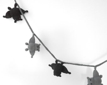 Knitted Bat Bunting