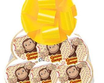 12pack Curious George Decorated Sugar Cookies