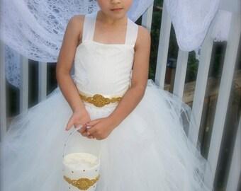Flower girl dress, white flower girl dress, ivory flower girl dress, tutu dress, tutu flower girl dress, tutu dresses, lace and tulle dress