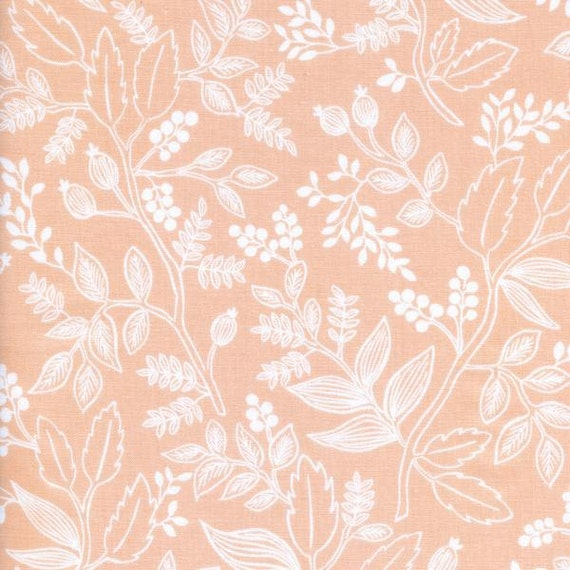 Changing Pad Cover >> Rifle Paper Co. Queen Anne in Peach >>Made-to-Order >> blush floral changing pad, peach floral changing pad, pink