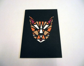 A6 Hand-Cut Cat Card
