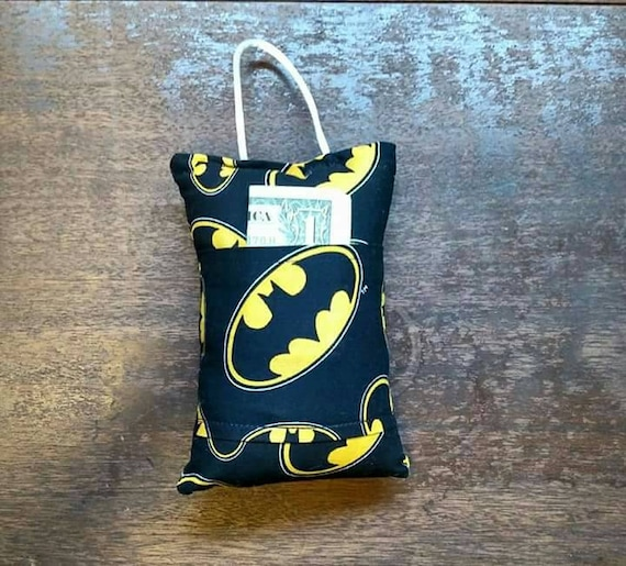 Batman tooth fairy pillow by thestitchfairies on etsy for Batman fairy door