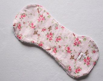 Baby burp cloth floral