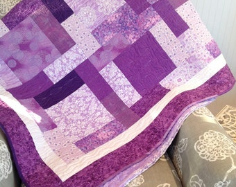 Purple quilt/ large throw