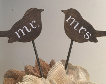 Bird Cake Toppers, Love Bird Cake Toppers, Rustic Cake Toppers, Wedding Cake Toppers