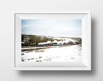 Winter Wonderland / Flying Scotsman / Irwell Vale / Steam Train / East Lancs Railway / Train / Locomotive / Railway