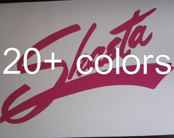 Shasta Vinyl Decal / Sticker *Available in 24 Colors*