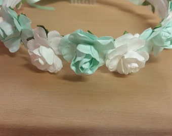 NEW Ivory Flower Girl Vintage Crown
